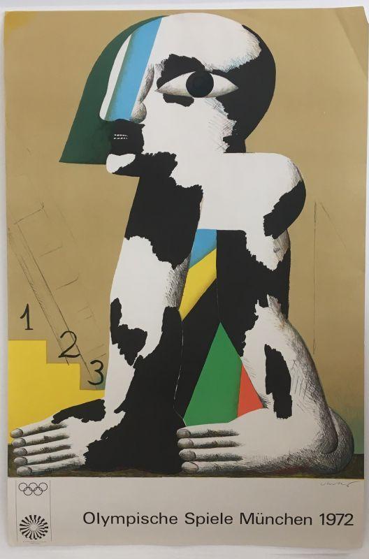 Horst ANTES, Olympische Spiele München, 1972 (Affiche) -  Artistes Divers