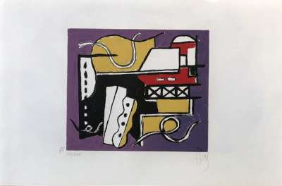 Construction (Serigraph) - Fernand LEGER