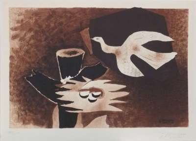 The bird and its nest (Lithograph) - Georges BRAQUE