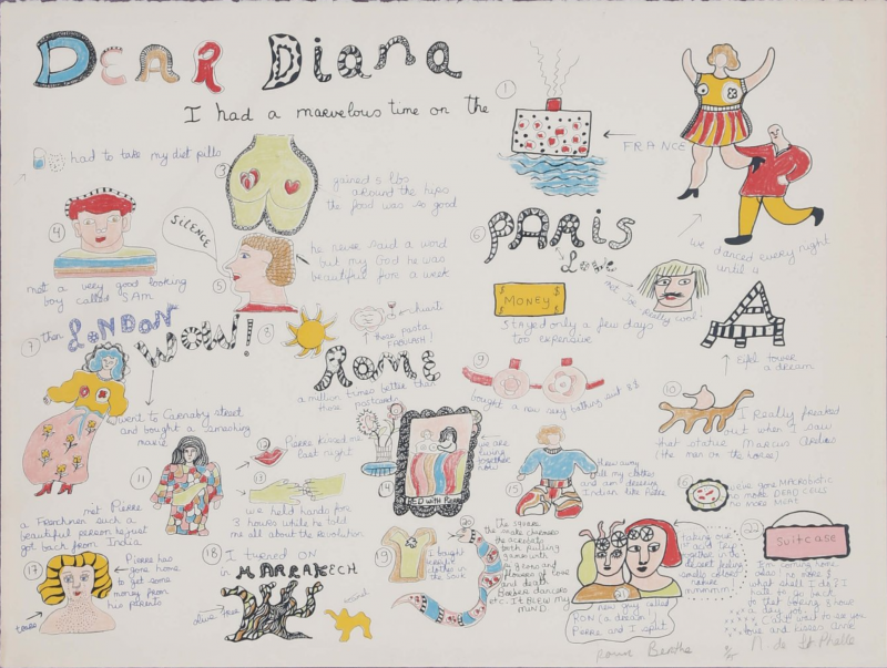 Dear Diana I had a marvelous time (Sérigraphie) - Niki DE SAINT PHALLE