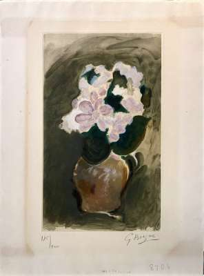 Le Bouquet rose (Aquatinte) - Georges BRAQUE