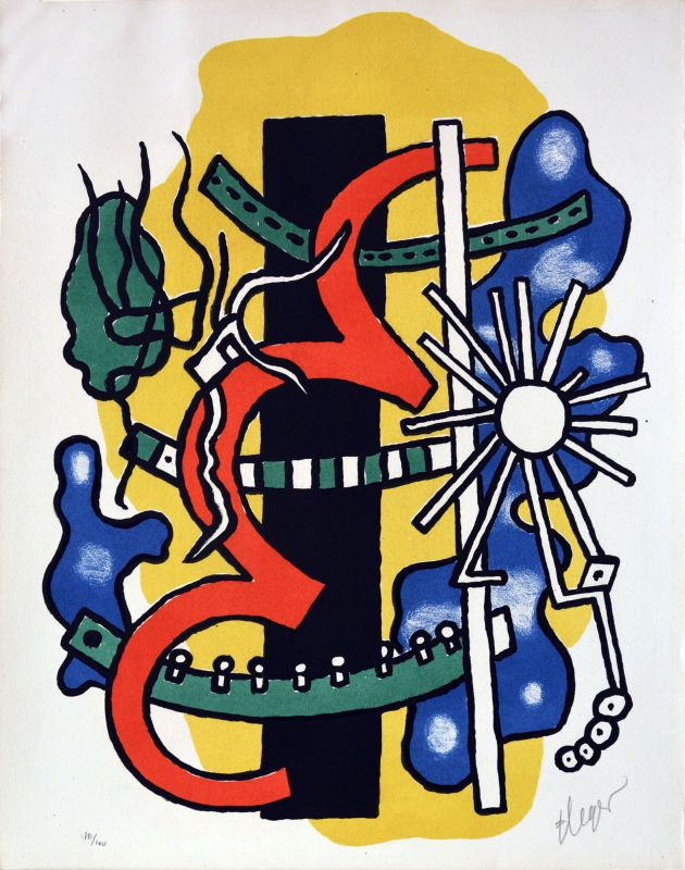 Composition (Lithographie) - Fernand LEGER