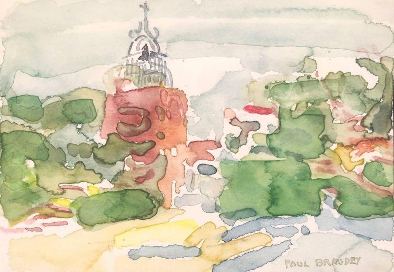 Paul BRAUDEY / Paysage (Carte de voeux) -  Artistes Divers