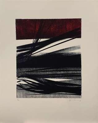 L1977-11 (Farblithographie) - Hans HARTUNG