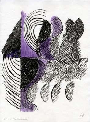 """""""Juste Présent"""" de Tristan Tzara planche 8 (Eau-forte et aquatinte) - Sonia DELAUNAY-TERK"""
