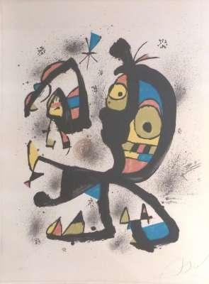 Pour exposition Joan Miro Obra Grafica Fundacio Joan Miro (Lithograph) - Joan  MIRO