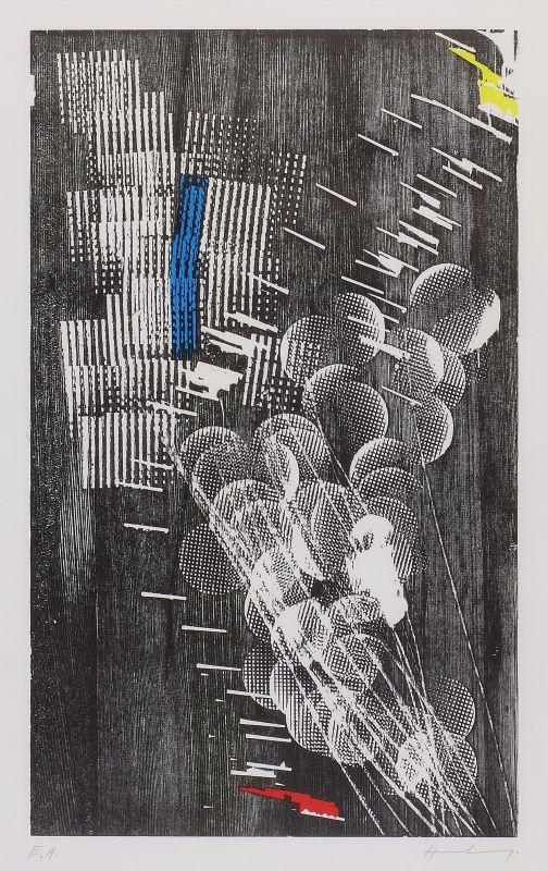 H 1973-3 (Bois gravé) - Hans HARTUNG