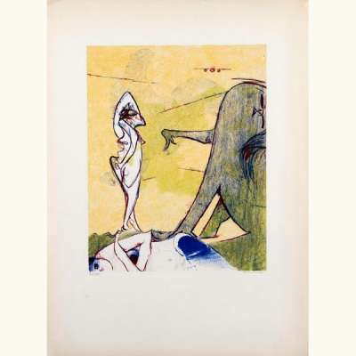 Hommage à Max Ernst (Lithographie) - Dorothea  TANNING