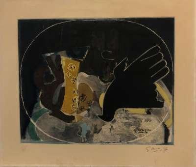 Pichet et oiseau (Eau-forte) - Georges BRAQUE