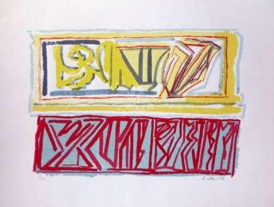Composition (Lithograph) - Riccardo  LICATA