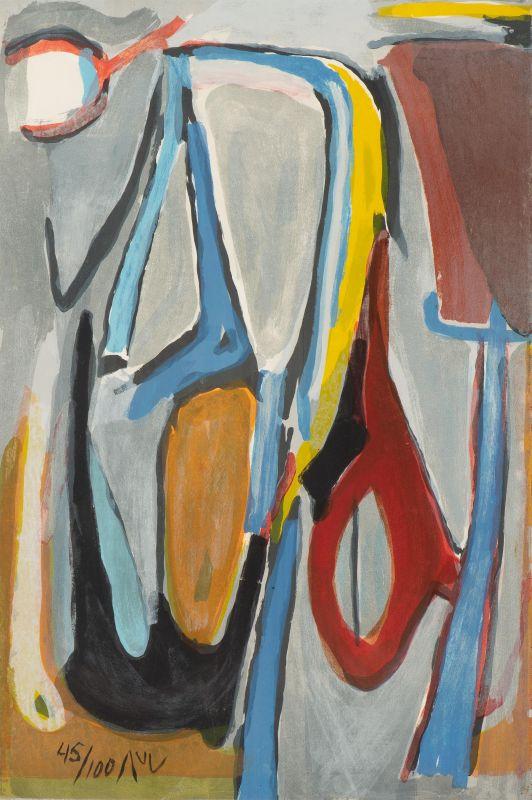 Recul (Lithographie) - Bram   VAN VELDE