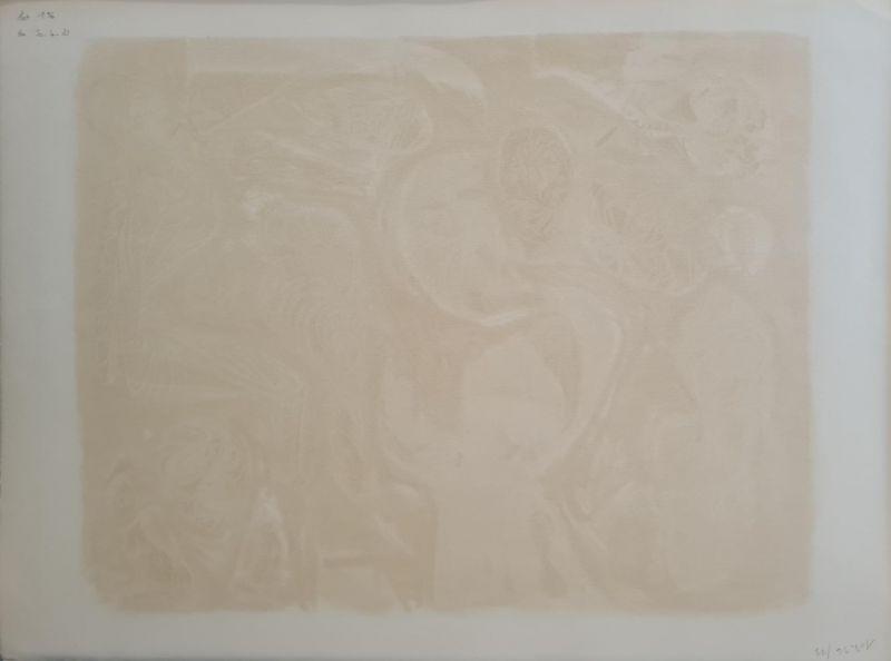 Astres et visages (Lithographie) - André  MASSON