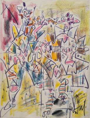 Clowns musicians (Pastel (modern)) -  GEN PAUL