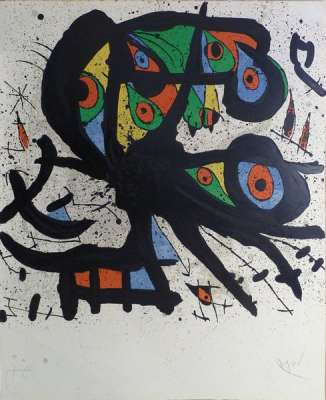 Agora I (Lithographie) - Joan  MIRO