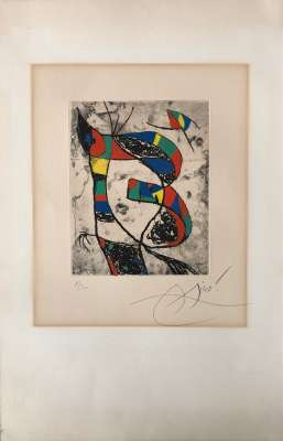 Les Saltimbanques - Planche III (Etching) - Joan  MIRO