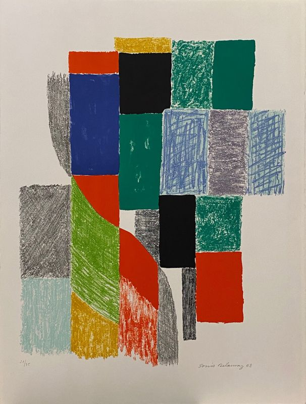 Oriflammes (Lithographie) - Sonia DELAUNAY-TERK