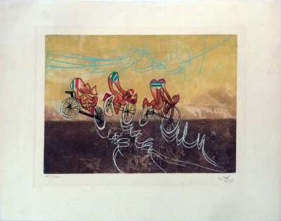 Les transports (Etching and aquatint) - Roberto  MATTA
