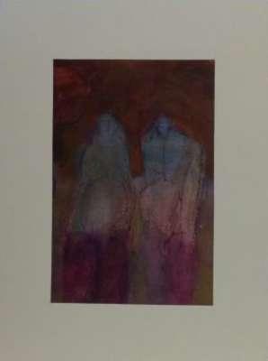 Adam et Eve (Gouache) - Gilles MAUPUR