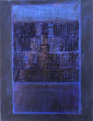"""V1 - Ch1 - LI  """"Le front de la nuit"""" (Oil on paper (contemporary) ) -  MAYAURA"""