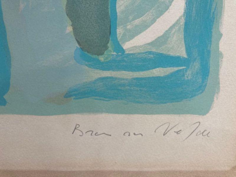 Composition en bleu et vert (Lithographie) - Bram   VAN VELDE