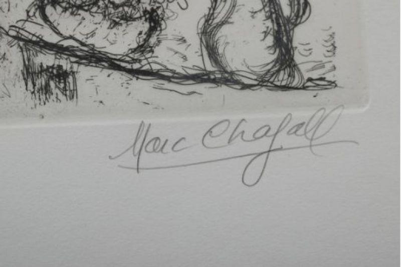 Le couple (Eau-forte et aquatinte) - Marc CHAGALL