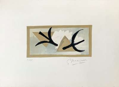 Les Martinets (Lithographie) - Georges BRAQUE
