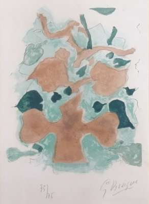 """The Forest """"Lettera Amorosa"""" (Lithograph) - Georges BRAQUE"""