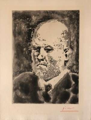 Portrait de Vollard I (Aquatint) - Pablo  PICASSO