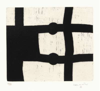 Menturatu (Etching and aquatint) - Eduardo CHILLIDA