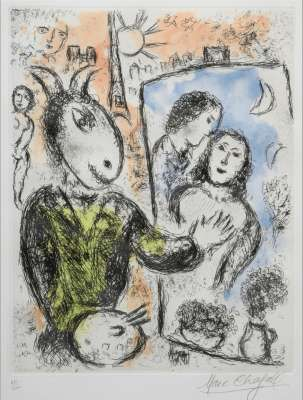 Le couple (Etching and aquatint) - Marc CHAGALL