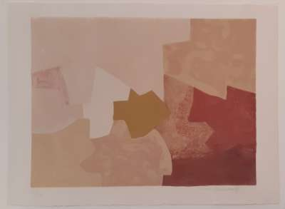 Composition rose L22 (Lithographie) - Serge  POLIAKOFF