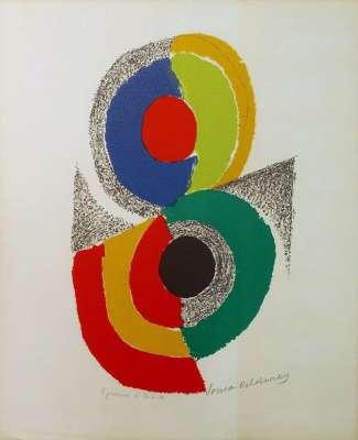 Composition circulaire (Lithograph) - Sonia DELAUNAY-TERK