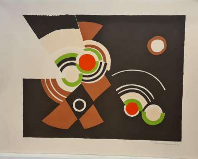 Cinéma (Lithographie) - Sonia DELAUNAY-TERK