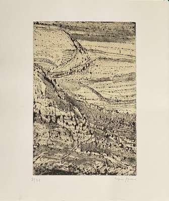 Arpad SZENES, Le monde de l'art n'est pas le monde du pardon (Eau-forte) -  Artistes Divers