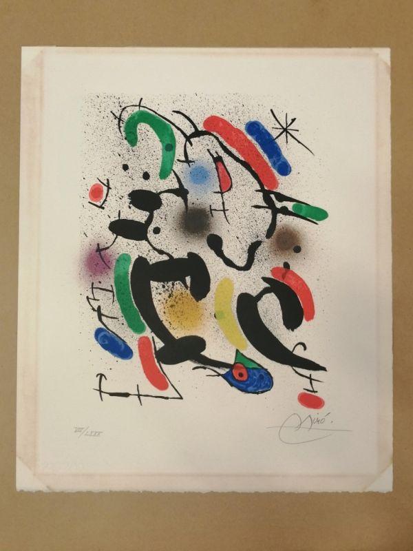 Miro Lithographe I planche 8 (Lithographie) - Joan  MIRO