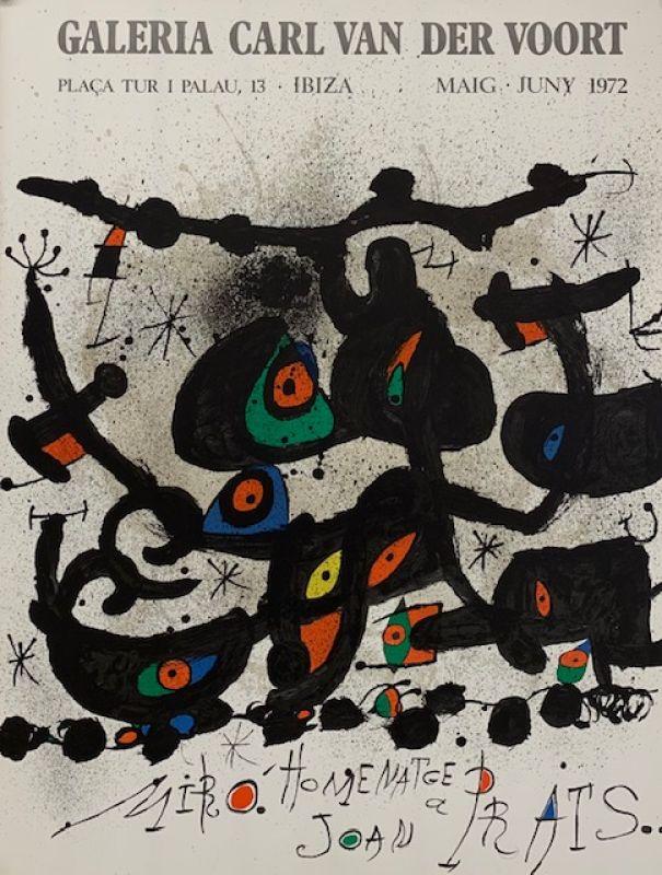 Affiche pour la galeria Carl van der Voort 1972 (Affiche) - Joan  MIRO