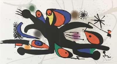 Joan Miro (Lithographie) - Joan  MIRO