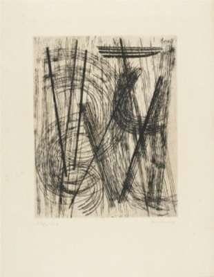 R15 (Pointe-sèche) - Hans HARTUNG