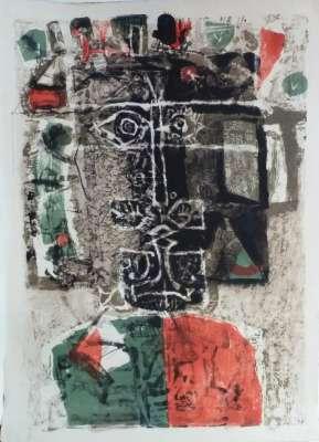 Roi vert et rouge (Lithograph) - Antoni CLAVE