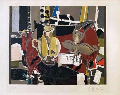 L'écho (Lithographie) - Georges BRAQUE