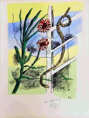 Bonne pensée du matin (Lithographie) - Fernand LEGER