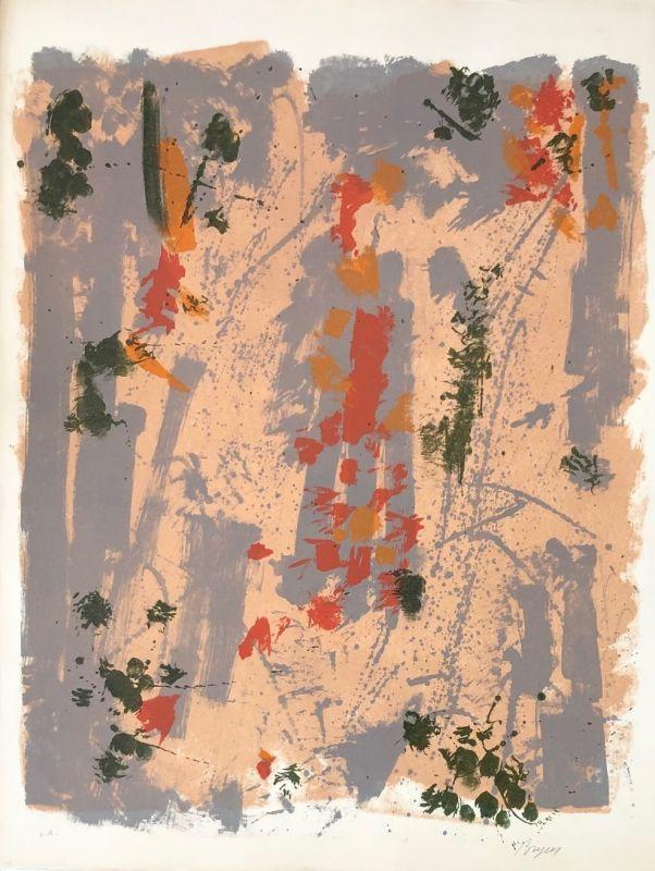 Cerf-volant (Lithographie) - Camille BRYEN