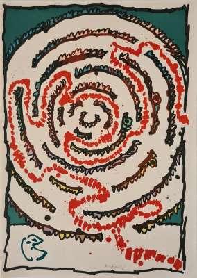 Labyrinthe d'apparat III (Lithograph) - Pierre ALECHINSKY