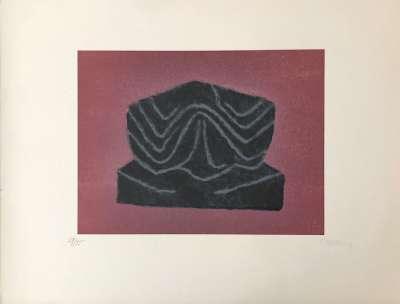 Ardoise (Lithograph) - Raoul UBAC