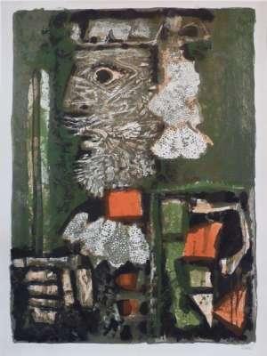 Roi de Cartes (Lithographie) - Antoni CLAVE