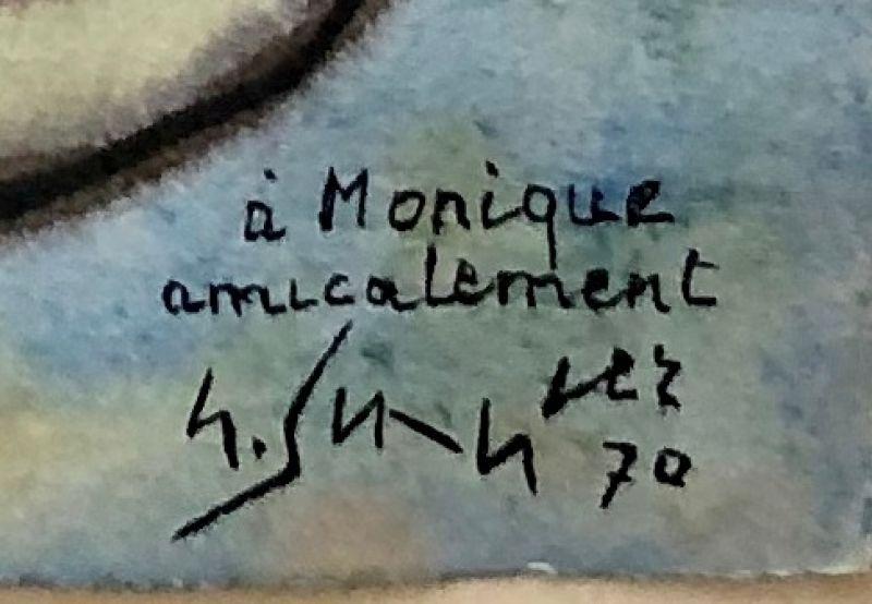 Composition lyrique (Aquarelle) - Gustave  SINGIER