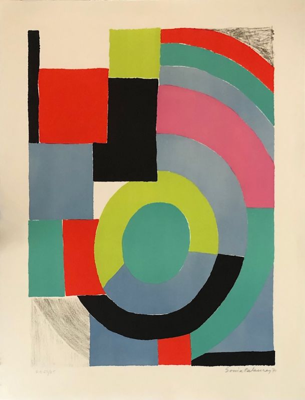 Composition (Lithographie) - Sonia DELAUNAY-TERK