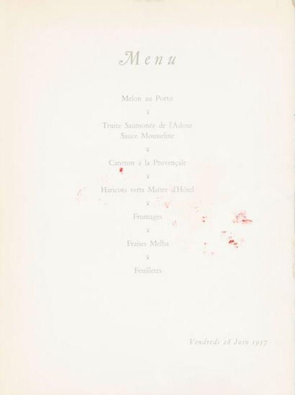 Menu d'un dîner (Lithographie) - Marc CHAGALL