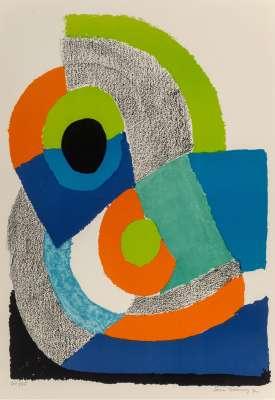 Arc Vert (Farblithographie) - Sonia DELAUNAY-TERK