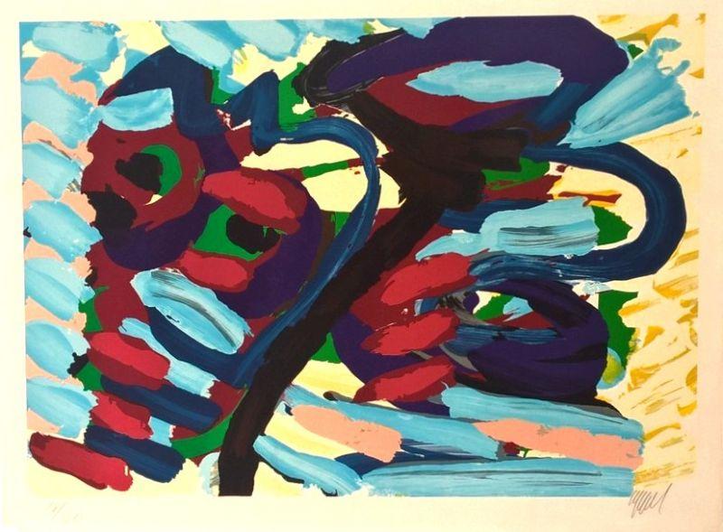 Loving heads (Lithographie) - Karel APPEL
